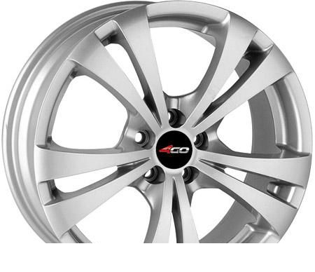 Wheel 4GO 131 Silver 15x6.5inches/5x110mm - picture, photo, image