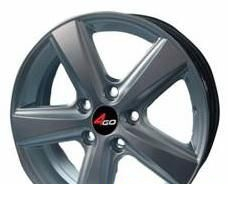 Wheel 4GO 230 Silver 15x6.5inches/4x100mm - picture, photo, image