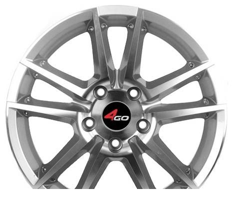 Wheel 4GO 289 Silver 14x5.5inches/4x98mm - picture, photo, image