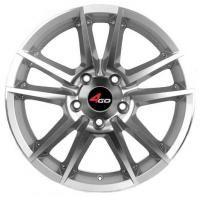 4GO 289 Silver Wheels - 14x5.5inches/4x98mm
