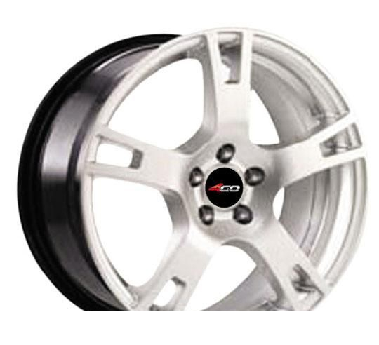 Wheel 4GO 35 Silver 15x6.5inches/4x108mm - picture, photo, image