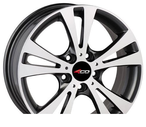 Wheel 4GO 485 Black 17x7inches/5x114.3mm - picture, photo, image
