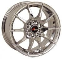 4GO 5007 Red Wheels - 15x6.5inches/4x100mm