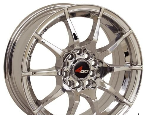 Wheel 4GO 5007 Red 15x6.5inches/4x98mm - picture, photo, image