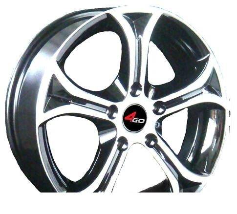 Wheel 4GO 5247 Silver 15x6.5inches/4x114.3mm - picture, photo, image