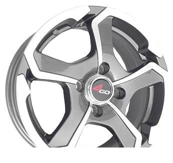 Wheel 4GO 5273 Silver 14x6inches/4x98mm - picture, photo, image