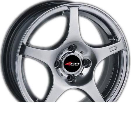 Wheel 4GO 550 Silver 15x6.5inches/4x98mm - picture, photo, image