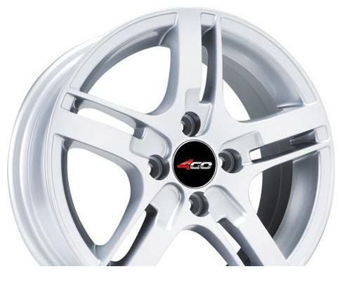Wheel 4GO 583 Silver 15x6.5inches/4x114.3mm - picture, photo, image