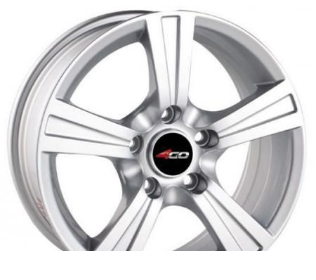 Wheel 4GO 598 Silver 14x6inches/4x100mm - picture, photo, image