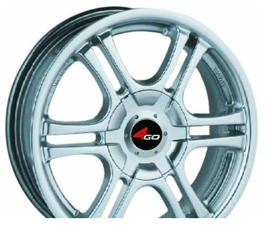 Wheel 4GO 629 Silver 15x6.5inches/4x114.3mm - picture, photo, image