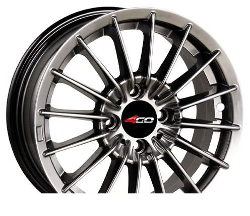 Wheel 4GO 869 Black 14x6inches/4x98mm - picture, photo, image