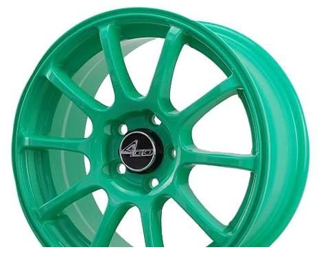 Wheel 4GO 9039 Green 15x6.5inches/5x100mm - picture, photo, image