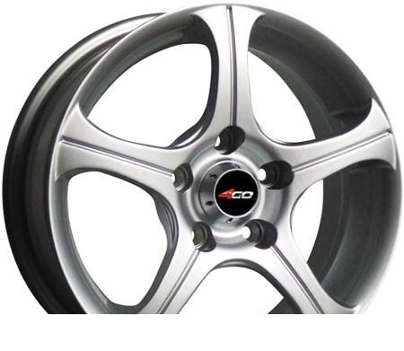 Wheel 4GO CT001 Silver 14x5.5inches/4x100mm - picture, photo, image