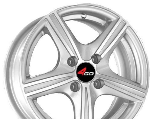 Wheel 4GO JJ508 Silver 14x6inches/4x100mm - picture, photo, image