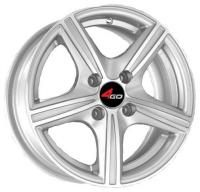 4GO JJ508 Silver Wheels - 14x6inches/4x100mm
