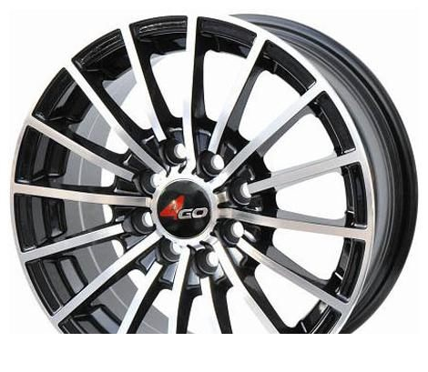 Wheel 4GO RL7 White 15x6.5inches/4x98mm - picture, photo, image