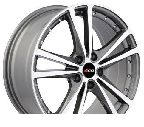 Wheel 4GO SD119 Silver 15x6.5inches/5x114.3mm - picture, photo, image