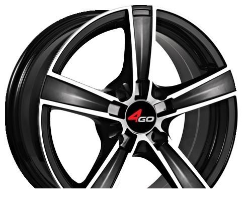 Wheel 4GO YQ7 GMMF 17x7.5inches/4x100mm - picture, photo, image